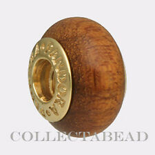Authentic Pandora 14K Gold Muiracatiara Wood Bead 750706 *Retired*