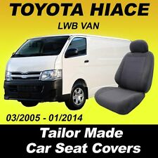 Car Seat Covers for TOYOTA HIACE LWB VAN Front Seats Charcoal 03/2005 - 01/2014
