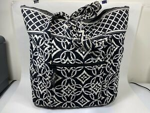 Vera Bradly Concerto Villager Black White Extra Large Tote Bag Purse