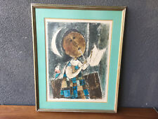 JOHN HAYMSON SIGNED NUMBERED LITHOGRAPH VINTAGE MID CENTURY MODERN EAMES ERA
