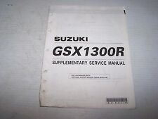USED SUZUKI GSX1300R SUPPLEMENTARY  SERVICE MANUAL 99501-39310-03E