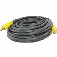 30FT FEET FOOT RCA AUDIO HI-FI SOUND SYSTEM CABLE SUBWOOFER CORD 30' FT