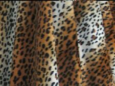 """VELBOA FAUX FUR GOLD CHEETAH ANIMAL PRINT FABRIC SEWING POLY 60"""" BY THE YARD"""