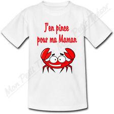 T-shirt Enfant Crabe J'en pince pour ma Maman