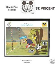 ST. VINCENT # 1807A MNH DISNEY'S HOW TO PLAY FOOTBALL