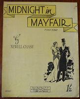 Mitternacht IN Mayfair Von Newell Chase – Klavier Solo – Pub.1937