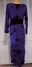 NWOT Alice's Pig Purple Bella's Batik Maxi Dress Sz US 8 UK 12 Fall Halloween