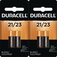4 Pack Duracell A23 21/23 12 Volt MN21 MN23 23AE GP23 23A 23GA Batteries (2X2)