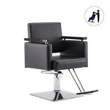 Hydraulic Barber Chair Modern Styling Salon Haircut Hair Beauty Equipment Black