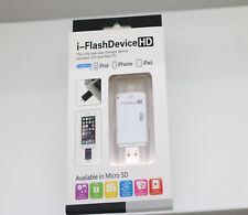 For iPad Air mini iPhone 6 5 i-Flash Drive HD USB MicroSD TF Card Reader Adapter