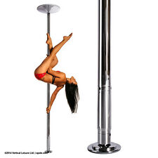 XPole X-PERT 45mm NX Spinning Static Dance Exercise X Pole Set Chrome NEW 2016