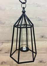 Baudelaire - Hanging Metal and Glass Lantern