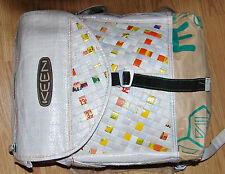 Large KEEN Japanese shopping back woven WHITE BACKPACK day pack bag Men Women