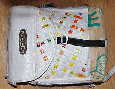 Large KEEN Japanese shopping back woven WHITE BACKPACK day pack bag Men Women