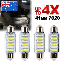 4X 12V 41MM 6 LED 7020 FESTOON CAR UTE 4WD INTERIOR DOME MAP LIGHT BULB GLOBE