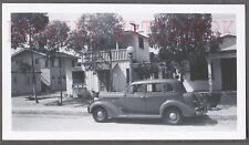 Vintage Car Photo Roadside 1935 Dodge Automobile & House 711257