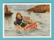 ADVERTISING  -  ROBERT  OPIE  POSTCARD  -  LIFEBUOY  SOAP     (F)