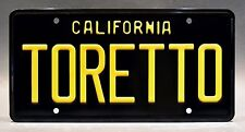The Fast and the Furious / Dodge Charger / TORETTO *METAL STAMPED* License Plate
