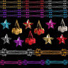 Davies Products Christmas Foil Ceiling Decorations - Garlands Stars Trees Bells