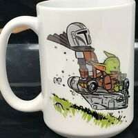 BABY YODA AND THE MANDALORIAN 15oz CERAMIC COFFEE MUG DISNEY STAR WARS