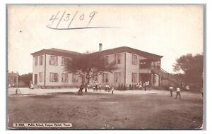 Public School Baseball Game? CORPUS CHRISTI TX Vintage 1909 Texas Postcard