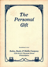 Fine Jewelry & Other Personal Gifts Vtge Booklet Bailey Banks & Biddle Philly PA