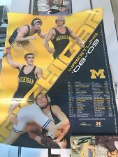 15 X 20 08-09 Michigan Wrestling Schedule Poster. New
