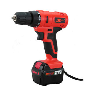 DCTOOLS DRILL DC-017 18V Rechargeable Cordless Electric Power Tool
