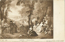 "Jean Baptiste Pater-""Fete in a park""1720s(40-LL)from the Wallace Collection-1908"