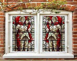3D Palace Knight I653 Window Film Print Sticker Cling Stained Glass UV Block Amy