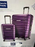 "Samsonite TECH TWO 2-Piece Hardside Luggage Set, Purple  (27"" and 20"")"