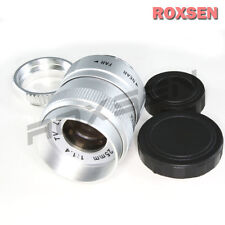25mm F1.4 C Mount CCTV Lens Silver Body for M4/3 Olympus Panasonic NEX E + macro