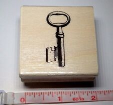 """Key Door Antique Skeleton Key Rubber Stamp Wood Mounted by MSPCI 2""""x2"""""""