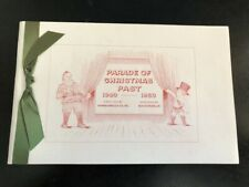 B.H.Homan Parade of Christmas Past 1940-1950 Book of 10 Engraved Cards