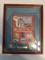 1945 Silver Eagle Coin 50th Anniv VJ Day Set Framed w/Stamps $1 .25 .10 .05 .01