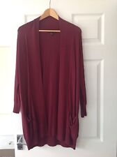 LADIES 'PRIMARK' MAROON LONG CARDIGAN. SIZE 6. VERY GOOD CONDITION. POCKETS.