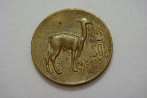 PERU 1/2 SOL DE ORO 1969 LLAMA  ANIMAL COIN