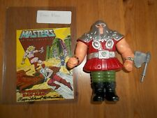 MOTU He-Man Figure Ram Man Complete with AUTOGRAPHED MINI COMIC