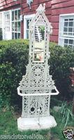 Gothic Antique Cast Iron Hall Umbrella Stand English Victorian SIGNED FALKIRK