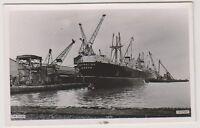 Wales postcard - The Docks, Newport - RP (A372)