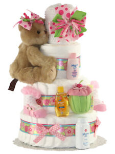 Top It Off With Hat 4 Tiers Diaper cake