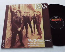 "INXS What you need (Remix) FRENCH 3 Tks 12"" EP MERCURY 884 441-1 (1985) VG+/EX+"