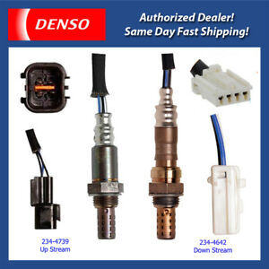 Denso Oxygen Sensor 2PCS Set 234-4642 234-4739! for 02-06 Mitsubishi Lancer 2.0L