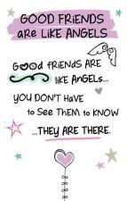 Good Friends Like Angels Inspired Words Keepsake Credit Card & Envelope