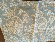 POTTERY BARN PILLOW SHAM,BLUE/CREAL FLOWERS,LINEN,COTTON,MINT CONDITION,STANDARD