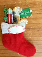 Beagle Christmas Ornament Dog In Stocking Kurt S Adler New Can Be Personalized