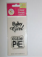 Baby Girl Clear Acrylic Stamps Scrappy Cat NIP