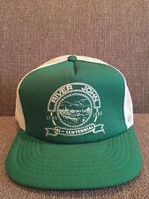 Vintage River John Nova Scotia Canada Mesh Trucker Hat 1985 80's Retro NS Pictou