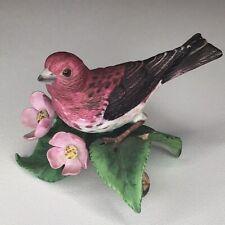 Lenox Purple Finch 1991 Fine Porcelain Figurine Bird Figure Collectible