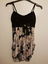 QUIZ - Ladies Womens Girls Lovely Strappy Floral Party Dress Size 12 By QUIZ